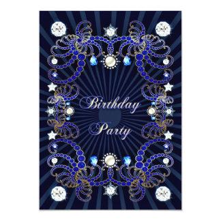 """La fiesta de cumpleaños invita con las masas de invitación 5"""" x 7"""""""