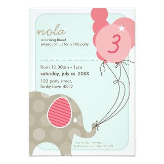 LA FIESTA DE CUMPLEAÑOS INVITA:: elefante + hincha Anuncio Personalizado