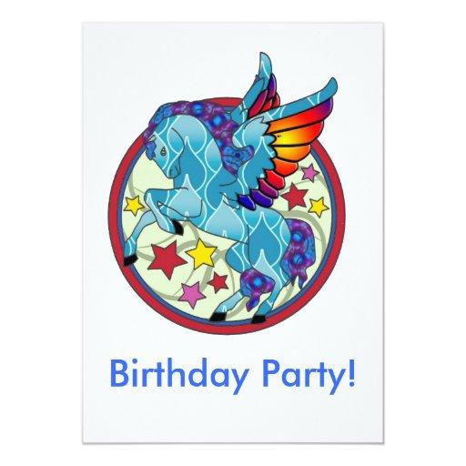 """La fiesta de cumpleaños invita invitación 5"""" x 7"""""""