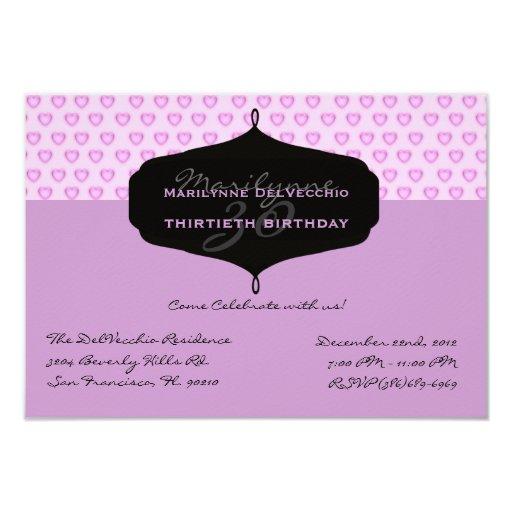 La fiesta de cumpleaños LINDA invita Invitación 8,9 X 12,7 Cm