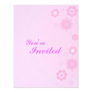La fiesta de cumpleaños rosada de los chicas invit comunicados personales