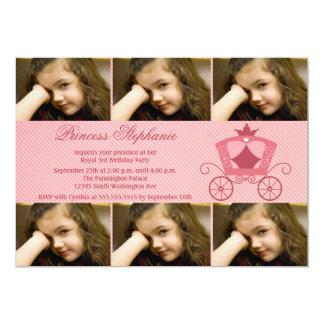 La fiesta de cumpleaños rosada dulce de la foto invitaciones personales