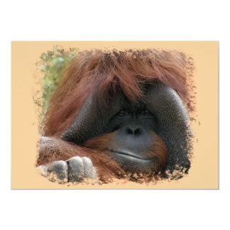 La fiesta de cumpleaños salvaje del orangután invitación 12,7 x 17,8 cm