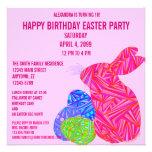 La fiesta de cumpleaños temática de Pascua del con Comunicados Personalizados