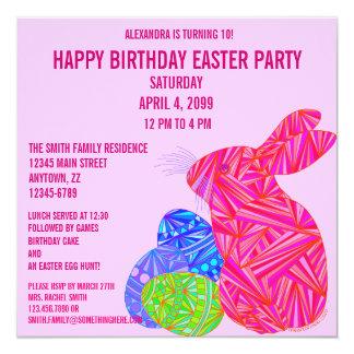 La fiesta de cumpleaños temática de Pascua del Comunicados Personalizados