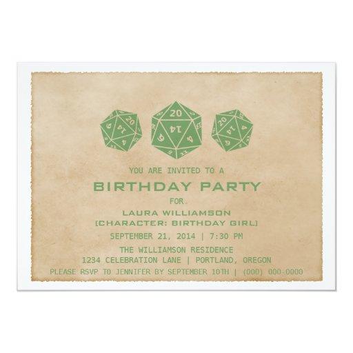 La fiesta de cumpleaños verde del videojugador de comunicados