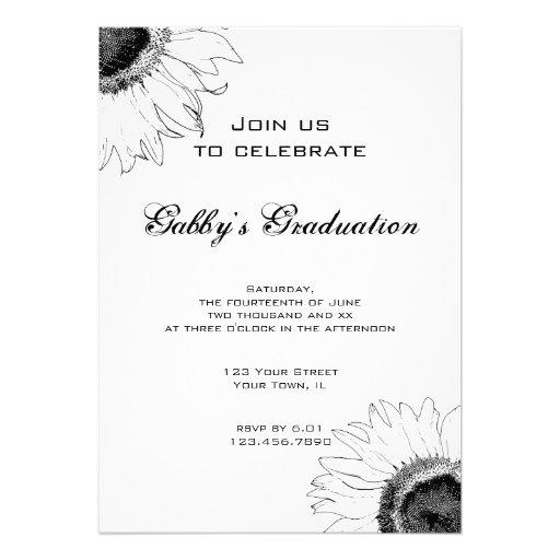 La fiesta de graduación blanco y negro del girasol anuncios