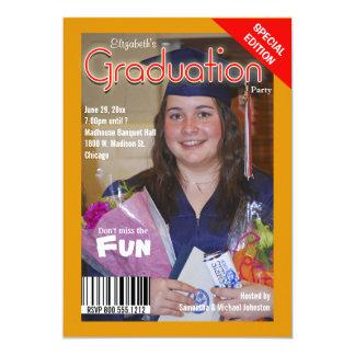 """La fiesta de graduación de encargo del estilo de invitación 5"""" x 7"""""""