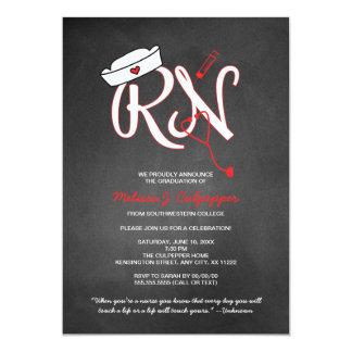 """La fiesta de graduación de la enfermera del RN que Invitación 5"""" X 7"""""""