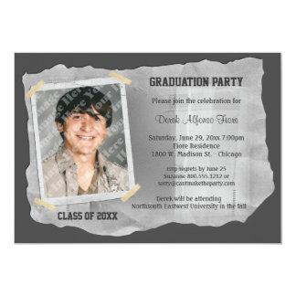 """La fiesta de graduación de plata de la foto del invitación 5"""" x 7"""""""