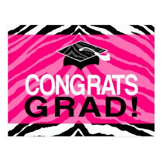 La fiesta de graduación del chica de Congrats de Tarjeta Postal