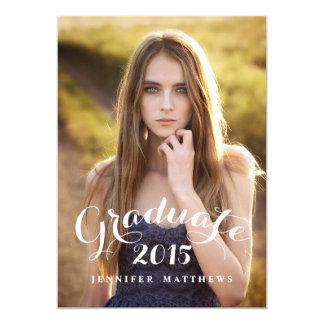 La fiesta de graduación dulce 2015 de la foto de invitación 12,7 x 17,8 cm