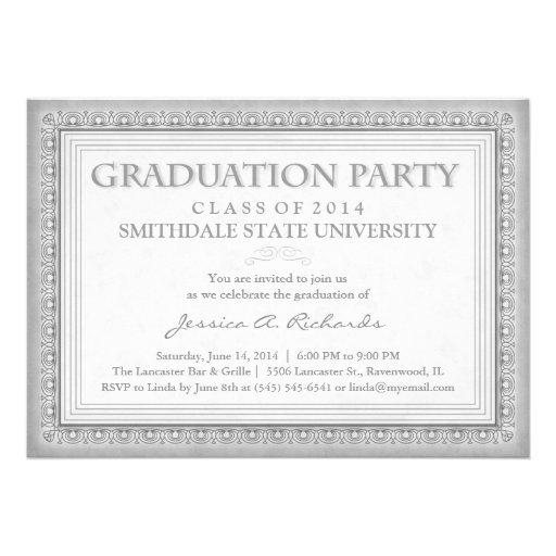 La fiesta de graduación gris del diploma (para ell comunicado