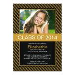 La fiesta de graduación moderna de la foto del invitaciones personalizada