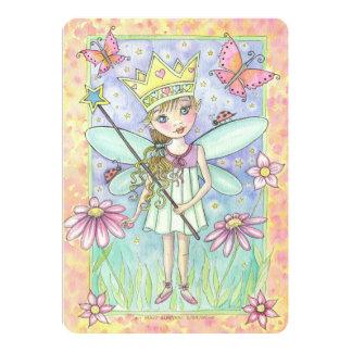 """La fiesta de hadas de la princesa cumpleaños invitación 5"""" x 7"""""""