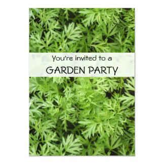 """La fiesta de jardín de encargo de los tops de la invitación 5"""" x 7"""""""
