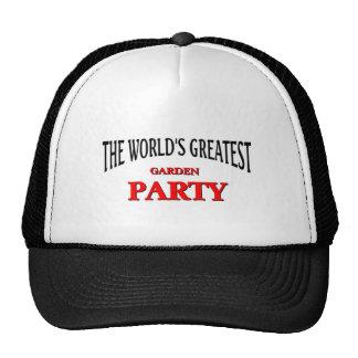 La fiesta de jardín más grande del mundo gorros bordados