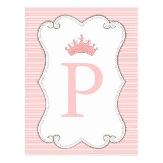 La fiesta de la princesa cumpleaños hace sus propi tarjetas postales