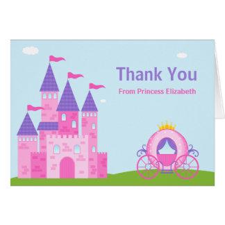 La fiesta de la princesa cumpleaños le agradece tarjeta pequeña