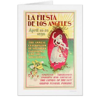 La Fiesta de Los Angeles 1896 Card