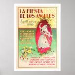 La Fiesta de Los Angeles 1896 Poster