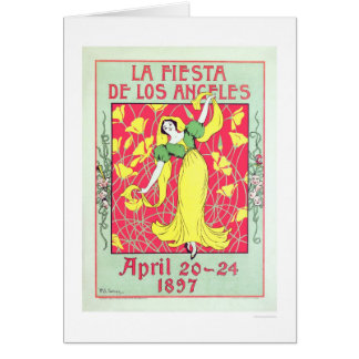 La Fiesta de Los Angeles 1897 Card