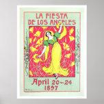 La Fiesta de Los Angeles 1897 Poster