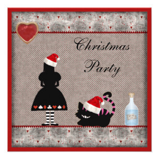 La fiesta de Navidad de Alicia y del gato de Chesh Comunicado Personalizado
