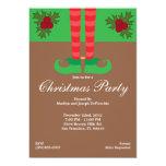 La fiesta de Navidad de los pies del duende invita Invitacion Personal