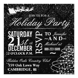 La fiesta de Navidad del trineo de Santa de la Invitaciones Personalizada