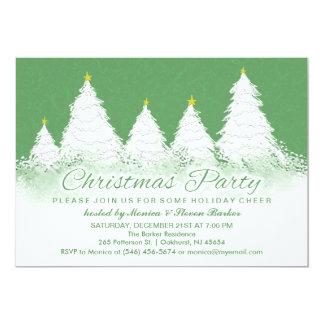 """La fiesta de Navidad invita a verde con los Invitación 5"""" X 7"""""""