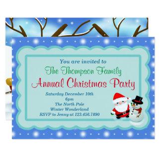 """La fiesta de Navidad invita Invitación 5"""" X 7"""""""