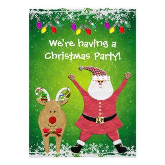 La fiesta de Navidad linda de Santa y de Rudolph