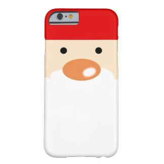 la fiesta de Navidad linda Papá Noel hace frente Funda Para iPhone 6 Barely There