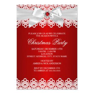 """La fiesta de Navidad roja blanca del arco de la Invitación 5"""" X 7"""""""
