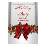 La fiesta de Navidad roja de plata PERSONALIZA