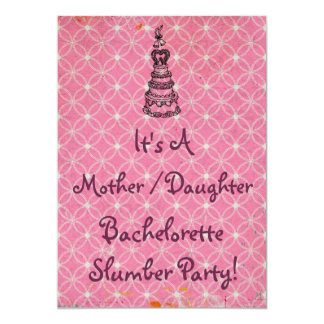 "La fiesta de pijamas de Bachelorette de la hija de Invitación 5"" X 7"""