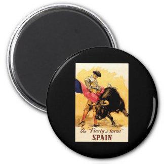 La fiesta De Toros In España Imán Redondo 5 Cm