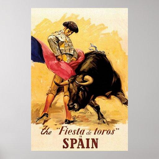 La fiesta De Toros In España Posters