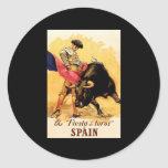 La fiesta De Toros In España Pegatinas Redondas