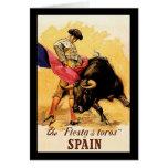 La fiesta De Toros In España Tarjeta De Felicitación