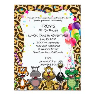 La fiesta del cumpleaños de los niños del safari comunicados personales