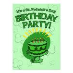 La fiesta del cumpleaños de St Patrick invita a pe