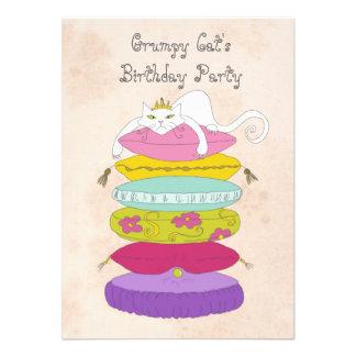 La fiesta del cumpleaños del gato gruñón invita anuncio