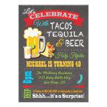 La fiesta del Tacos, del Tequila y de la cerveza v Invitaciones Personales