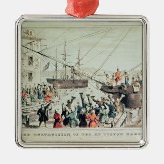 La fiesta del té de Boston, 1846 Adorno