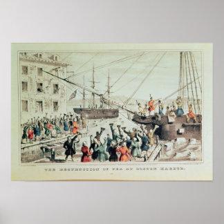 La fiesta del té de Boston, 1846 Impresiones