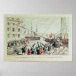 La fiesta del té de Boston, 1846 Póster