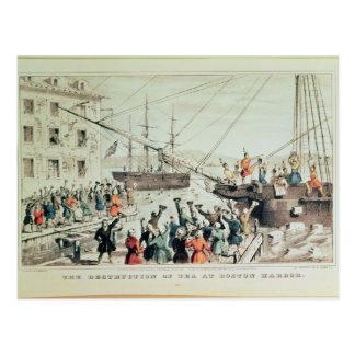 La fiesta del té de Boston, 1846 Tarjeta Postal
