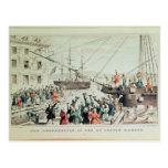 La fiesta del té de Boston, 1846 Tarjetas Postales